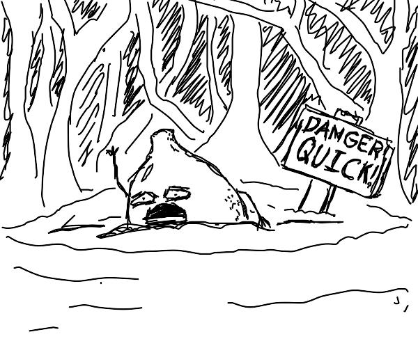 A Lemon digging into Quicksand
