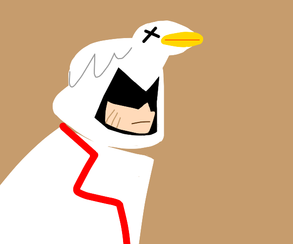 Assassins creed guy but he has a goose hood
