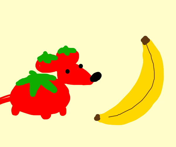 tomato mouse and banana