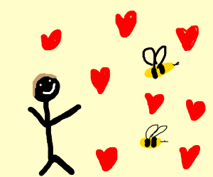 a guy realluy likes bees