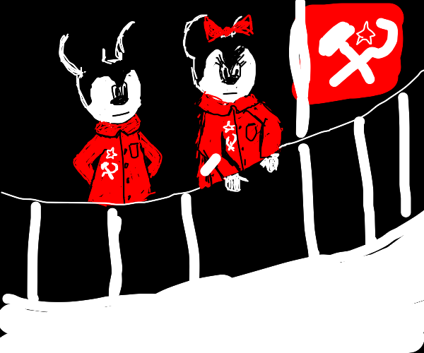 Mickey and Minnie made the world communist
