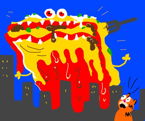 Attack of the killer lasagna!