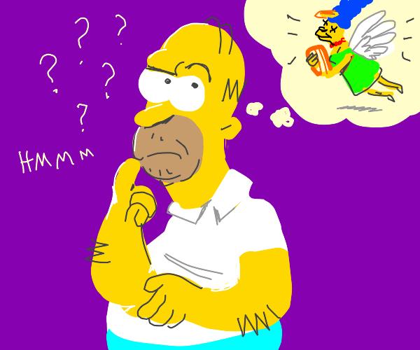 homer wants marge in heaven