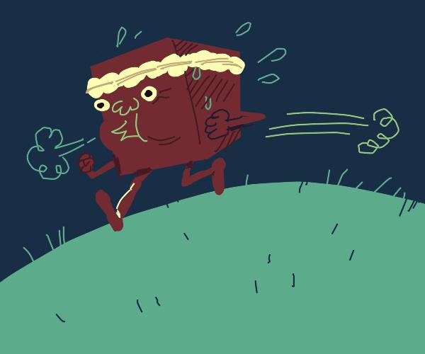 cube man running