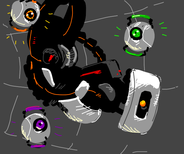 Portal 2: The cores and GLaDOS
