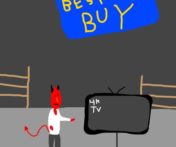 devil decides to buy a 4k tv at best buy