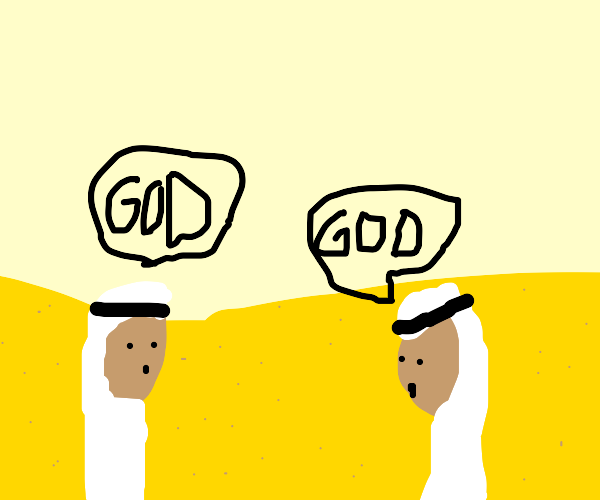 men talking about god
