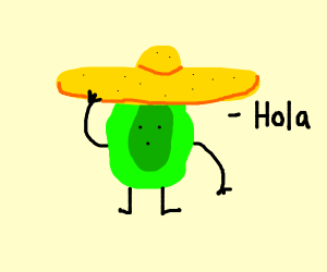Jalapeno with a sombrero!