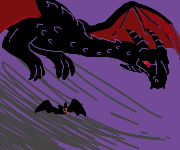 Vampiric dragon & his bat friend