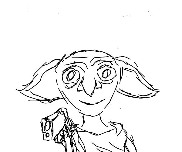 Master has given dobby a glock!