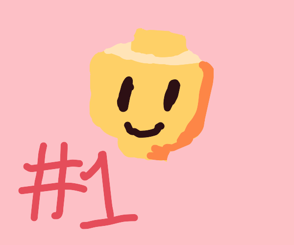 Number one Lego head