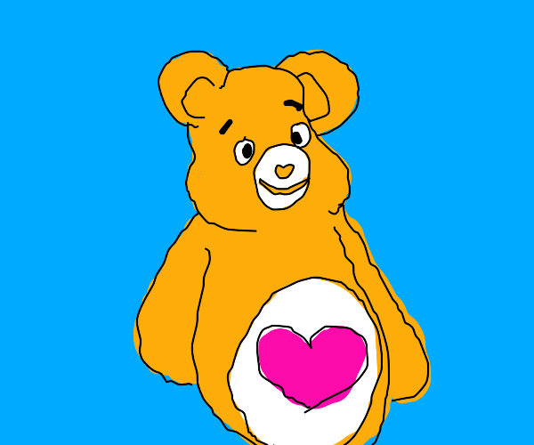 Orange Care Bear
