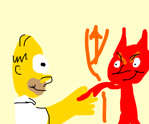 Simpsons make a deal with the devil