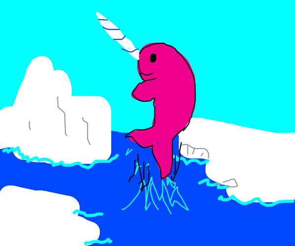 majestic pink narwhal