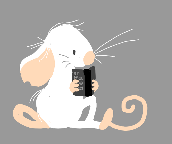 Mouse reading Of Mice and Men