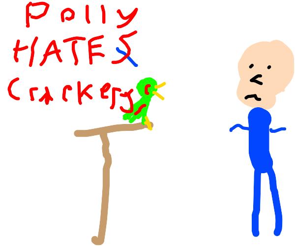 Racist parrot