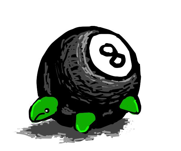 Sad little turtle/8-ball hybrid.