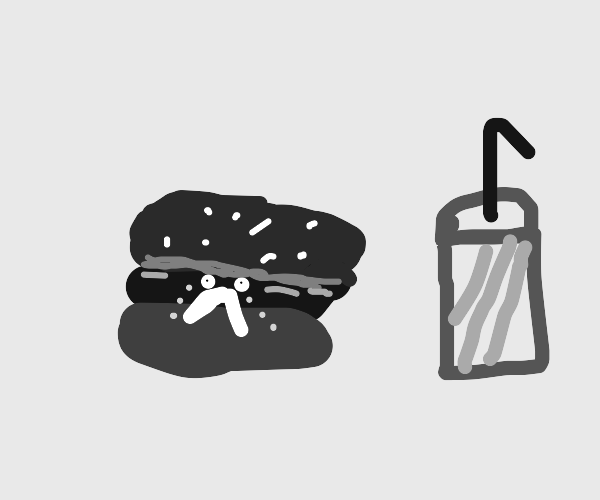 A sad, sad hamburger