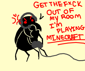 Beetle playing Minecraft