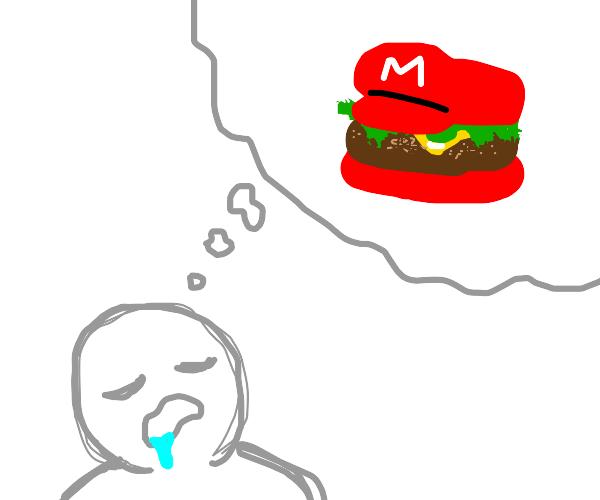 Guy dreams about mario sandwich