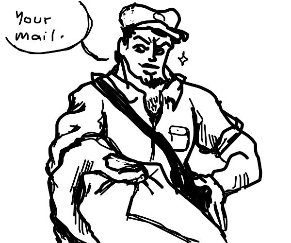 "Hunky/sexy ""mail"" man/mail box man"
