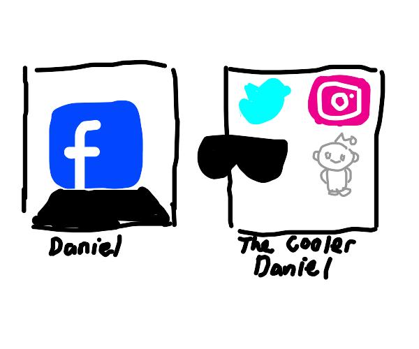 The Cooler Daniel Meme but Facebook