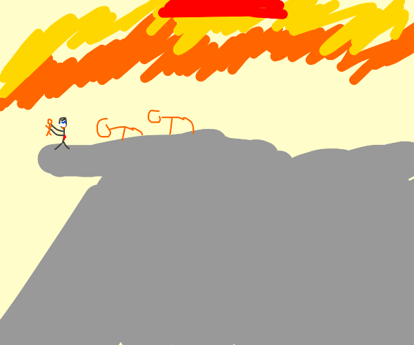 The Lion King, but with stick figures
