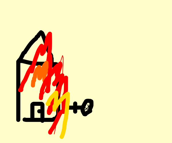 guys house is on fire and dies