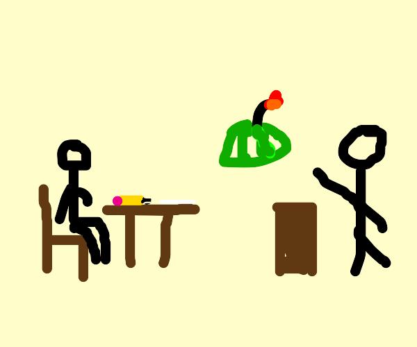 Teacher lettuce bomb