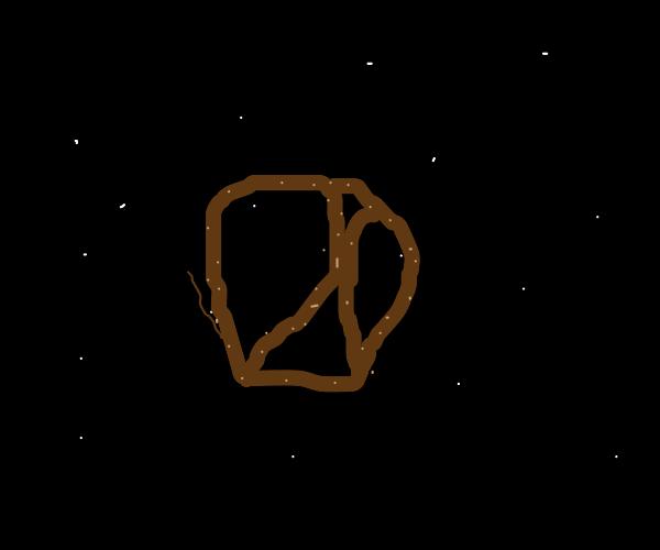 A pretzel in space
