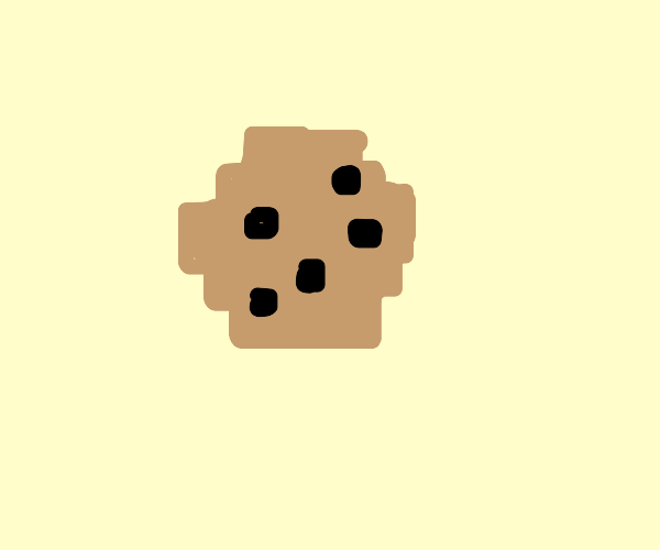 Pixelated cookie