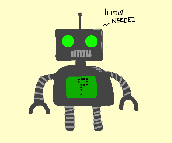 robot with no tasks