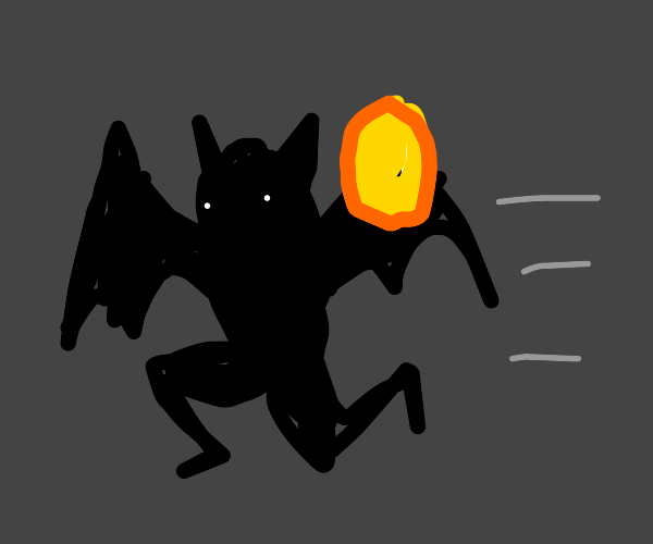 Bat running with a Coin
