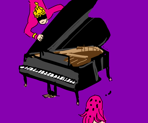 giorno slams a piano on someone