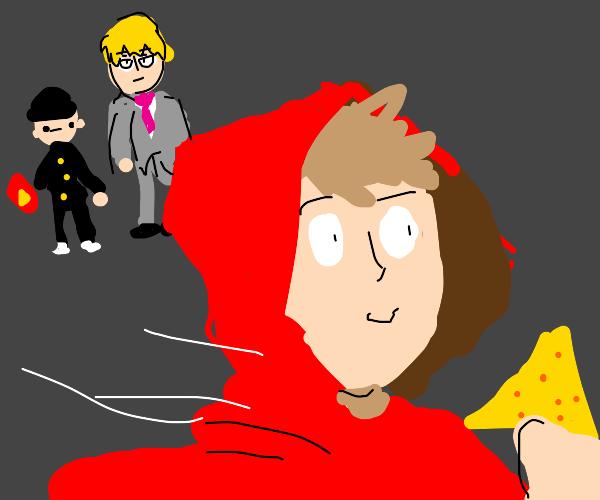 the mp100 raincoat guy steals a dorito