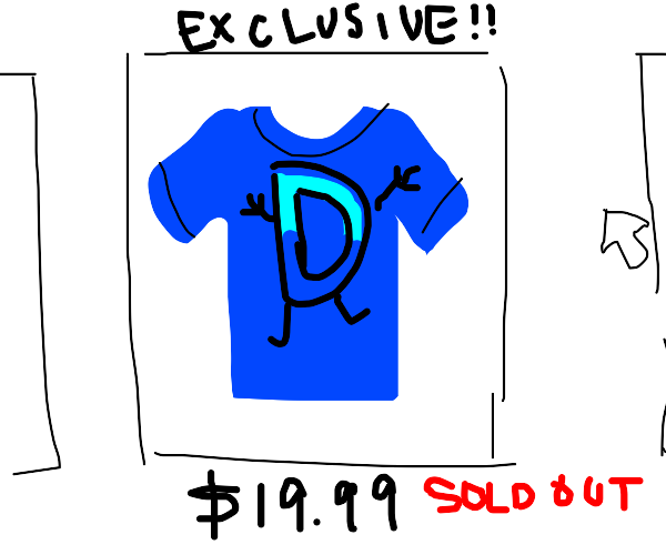 drawception tees are sold out T-T