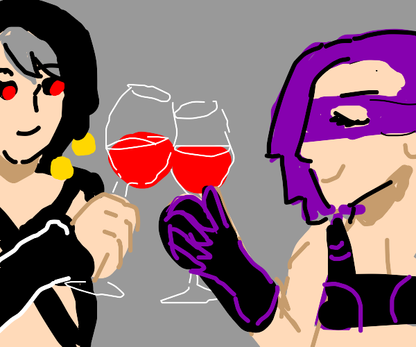 (jjba) Risotto and Melone drinking