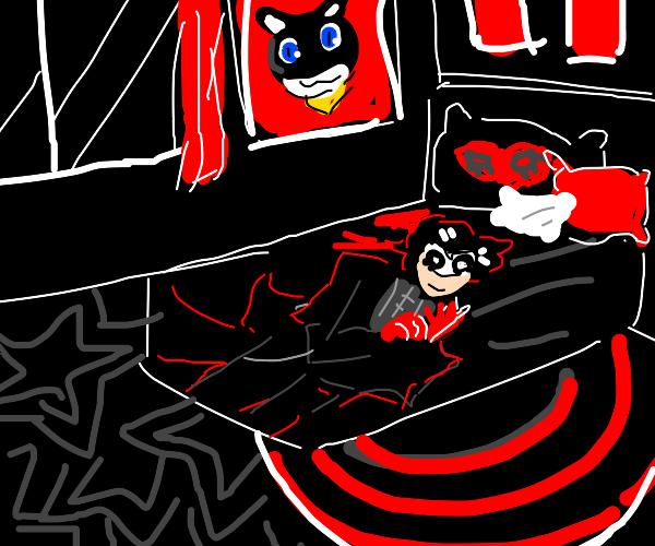 Persona 5 themed bedroom