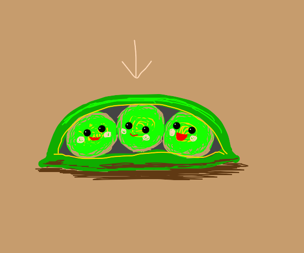 Peas in a pod (Point at one)