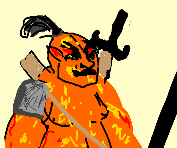 big scary orange orc guy