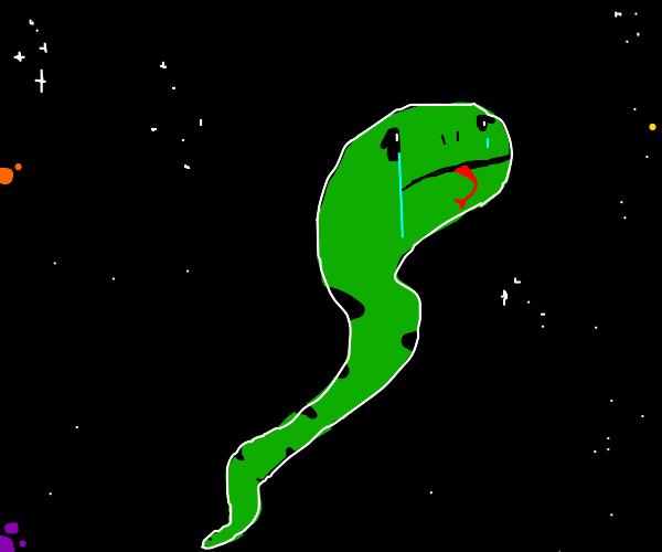 Sad space snake