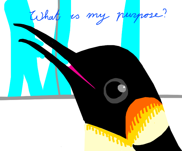 penguin contemplates existence