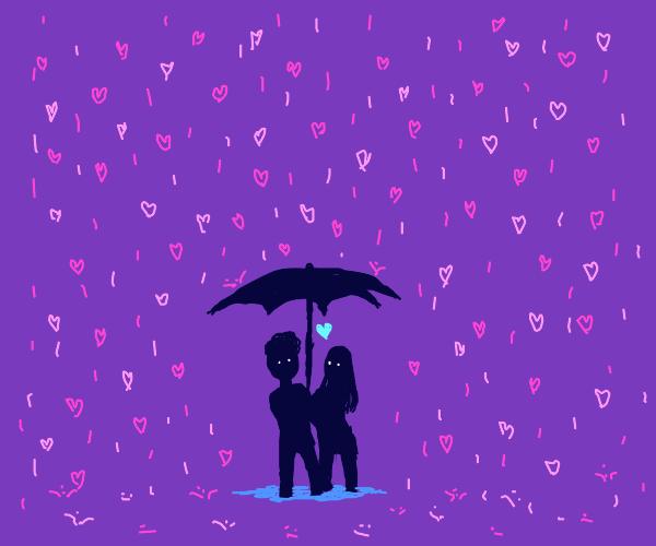 Unbrella for love rain