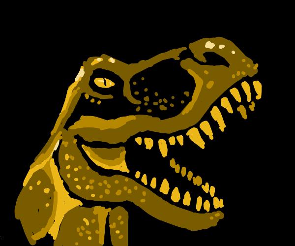 a nightmarish scary dinosaur baring its teeth