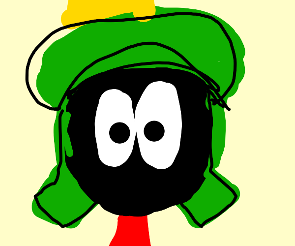 Marvin the martian staring at the camera