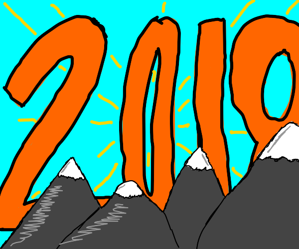 """A Mountain Range Upstaged by a Large """"2018"""""""