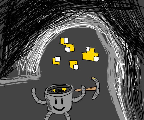 electric bucket mines minecraft gold