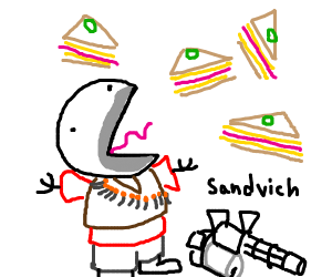 Heavy with sandvich