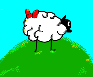 cute sheep with bowtie