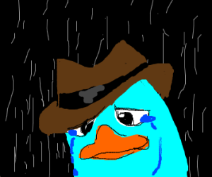 parry the platypus crying in the rain